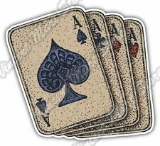 "Playing Card Aces Ace Deck Spades Poker Car Bumper Vinyl Sticker Decal 4""X5"""