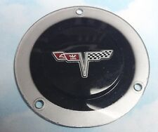 Chevrolet Corvette Cross Flags STEERING WHEEL CENTER EMBLEM OEM