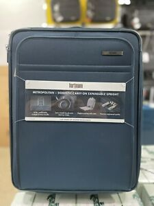 "Hartmann Metropolitan 22"" Travel Expandable luggage Carry on Blue"