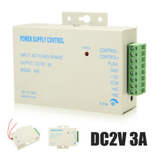 DC12V Power Supply Door Access Control System K80 Control Switch 3A 110-240V !