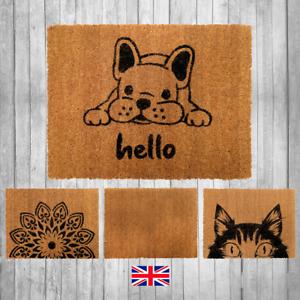 Durable UK Door mat: Natural Non-Slip Indoor Outdoor Welcome Puppy Cat Coir