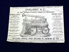 Objet Publicitaire Manufacture Chaligny & Cie. Paris, vers 1880