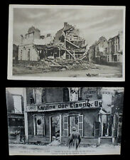 x2 World War One Postcards - damage to French buildings