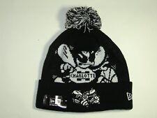 New Era NBA Charlotte Hornets Big Logo Cuffed Pam Knit Beanie Hat Cap NewEra