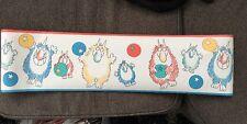 Happy Monsters w/ Star Balls RARE New Roll SANDRA BOYNTON Wallpaper Border 5 Yds