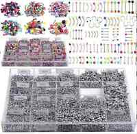 Lots 105pcs Wholesale Bulk Body Piercing Eyebrow Jewelry Belly Tongue Bar Ring