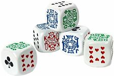 Set of spare poker dice x 5, 16mm dice for poker game
