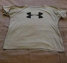 Under Armour Yxl Youth Ua loose Heatgear grey tshirt short sleeve