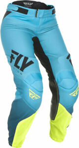 Fly Racing MX Motocross Women's Lite Pants (Black/Hi-Vis) Choose Size