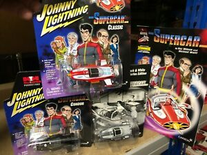 JOHNNY LIGHTNING Boxed SUPERCAR 3 x Diecast Model & Comic Set GERRY ANDERSON '03