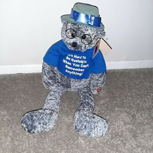 "PBC Chantilly Lane Musicals 22"" Senior Moments Bear ""When I'm 64"" Beatles NWT"
