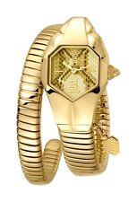 Just Cavalli Women's  JC DNA Watch JC1L001M0125 Gold IP Steel Gold Textured Dial