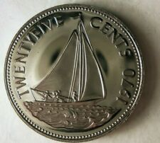 1970 BAHAMAS 25 CENTS - Low Mintage Proof Coin - Low Mintage - Bahamas Proof Bin