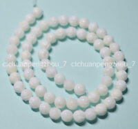 """Natural 6MM White Carving Coral Gemstone Round Loose Beads 15"""""""