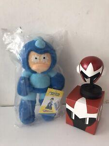 Monster Factory Capcom Megaman Plush Figure & Megaman Helmet