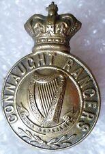 Badge- VICTORIAN Connaught Rangers Cap Badge QVC (100% Scarce Original)