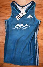 ADIDAS Athletic Tank Top AZP Shimmel Black Womens Small Cycling Running NWT Blue