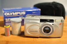 Olympus Superzoom 80G Quartzdate, Point&Shoot 35mm Camera, Original Box, Case