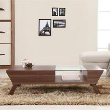 Furniture of America Soto Wood Coffee Table with Storage in Walnut