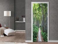 3D Bamboo Forest Path Living Room Door Murals Sticker Removable Wallpaper Decor
