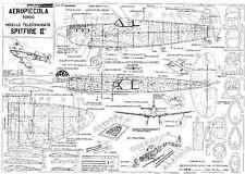 Aeropiccola Spitfire piani MK2 SCALA linea di controllo