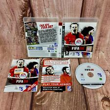 Ps3 Game FIFA 08 Football Game EA games Sony Playstation soccer in case & manual