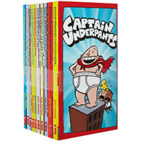 Captain Underpants Collection 10 Book Set Book By Dav Pilkey NEW BRAND UK