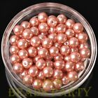 New 30pcs 8mm Round Glass Pearl Loose Spacer Beads Jewelry Making Aqua Red