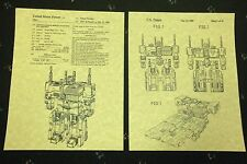 "PATENT ART PRINT 8.5"" X 11"" READY TO FRAME TRANSFORMERS METROPLEX"
