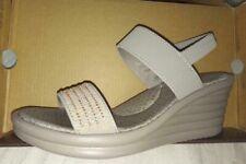 Skechers Taupe Cali Beaded Slip On Wedge Sandals UK3