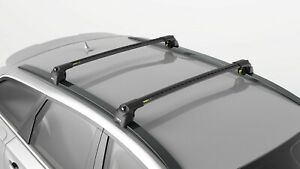Turtle Black Air V2 Roof Rail Racks Cross Bar for Audi RS6 (C7) 2012-2019