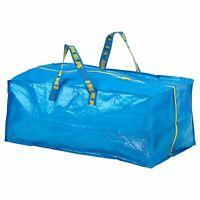 IKEA Zippered Storage Bag Shopping Travel Laundry Tote Bags 20 Gallon FRAKTA