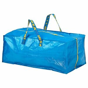 IKEA Zippered Storage Bag Shopping Travel Laundry Tote Bags 20 Gallon FRAKTA