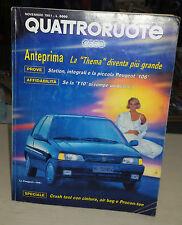 QUATTRORUOTE Novembre 1991 Peugeot 106 954 e 1.1  Alfa Romeo 33 Permanent 4