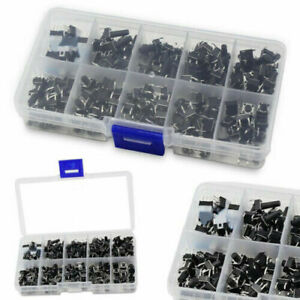 180PCS 10 Values Tactile Push Button Switch Mini Momentary Tact Assortment
