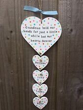 Personalised plaque sign Mothers Day gift present  Mum Nanny Grandma Grandmother