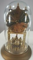 Vintage Dome Clock Spinning Balls Crystal Clear Plexiglass Dome