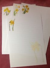 New! Daffodils Lined Writing Paper Set with matching envelopes