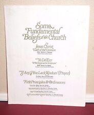 Some Fundamental Beliefs of the Church Romney, McConkie, Packer 1968 LDS Mormon