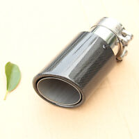 1Pc Real Carbon Fiber Exhaust Tip Pipe 63MM IN-89MM OUT Universal Muffler Tips