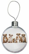 Bulldog Puppy Dogs Christmas Tree Bauble Decoration Gift, AD-BU10CB