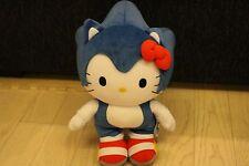 SEGA Japan 2012 SANRIO Hello Kitty x Sonic The Hedgehog Plush New with tag BIG