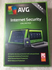 AVG Internet Security Unlimited devices / 1 year antivirus webcam protection