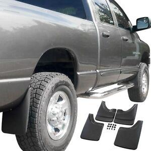 Fits Dodge Ram Mud Flaps 02-08 Mud Guards Splash w/o Flares 4 Piece Front & Rear