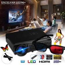 96+ Native 1280 * 800 Unterstützung 1080p LED-Projektor + Rot-Blau 3D-Brille