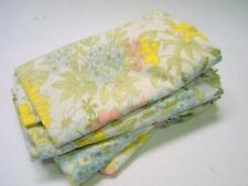 New listing Pair of Vintage Canon Royal Family Queen Size Flat Sheets with Botanical Themes