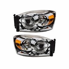 07-08 RAM 1500 07-09 RAM 2500 3500 FRONT LEFT & RIGHT HEADLIGHT LAMPS OEM MOPAR
