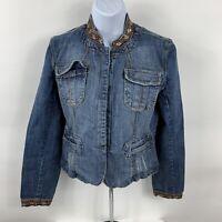 Paris Blues Jean Jacket Women's Size Medium Denim Coat Button Up Blazer