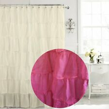 Pink Chic Ruffle Curtain Semi Sheer NEW Free AU Shipping