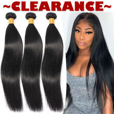8-30 inch THICK 1-4BUNDLES Brazilian Virgin Human Hair Weave Weft Extensions US